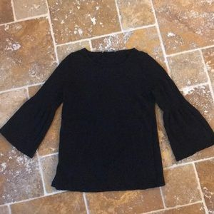 Black bell sleeved loft size small sweater